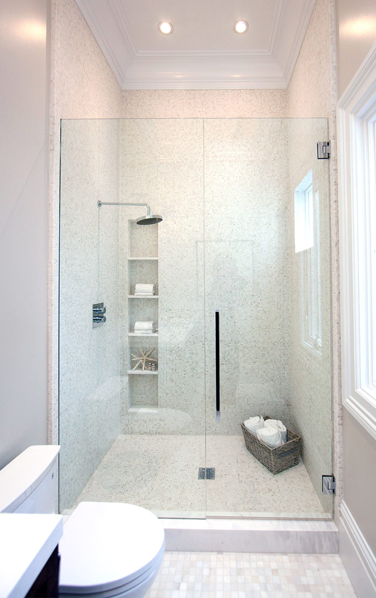 bathroom, shower, modern bath, subway tiles, marble bathroom, rain shower