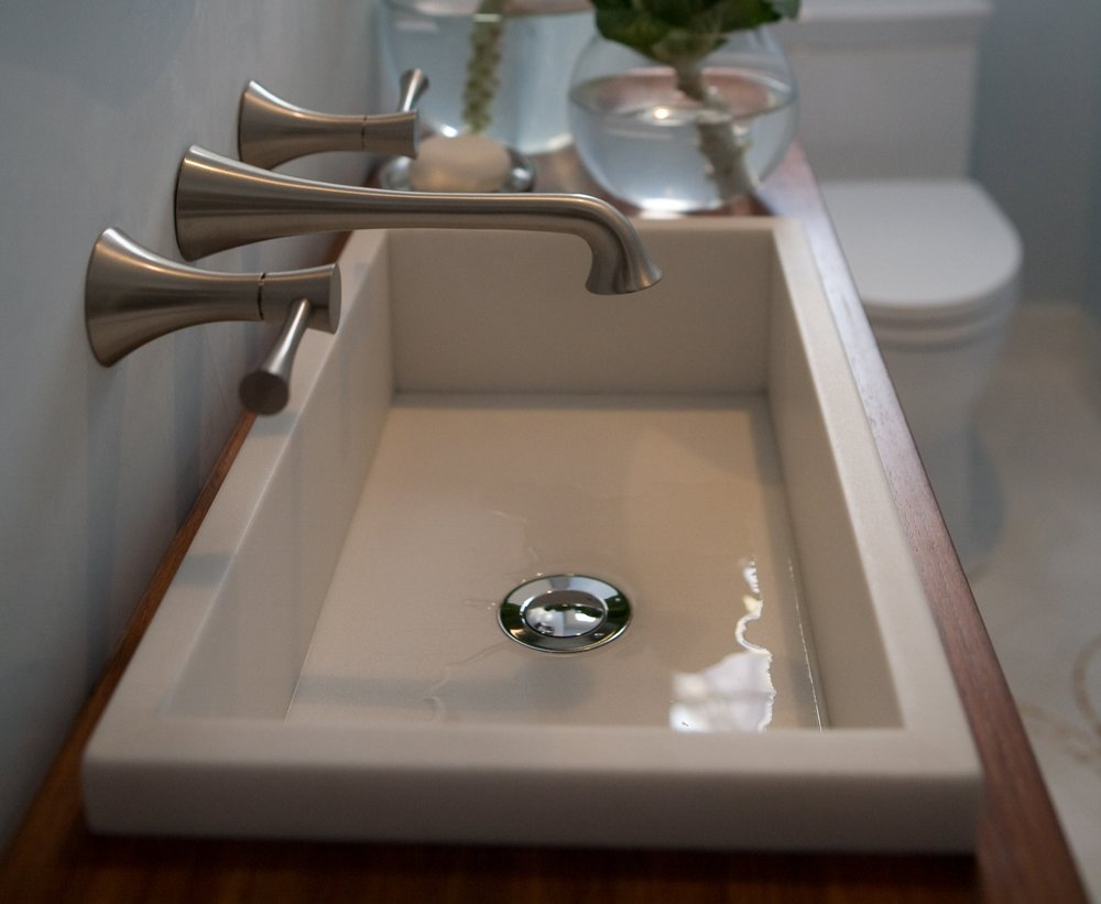 sink, modern, white, clean, bathroom, wood, porcelain, elegant