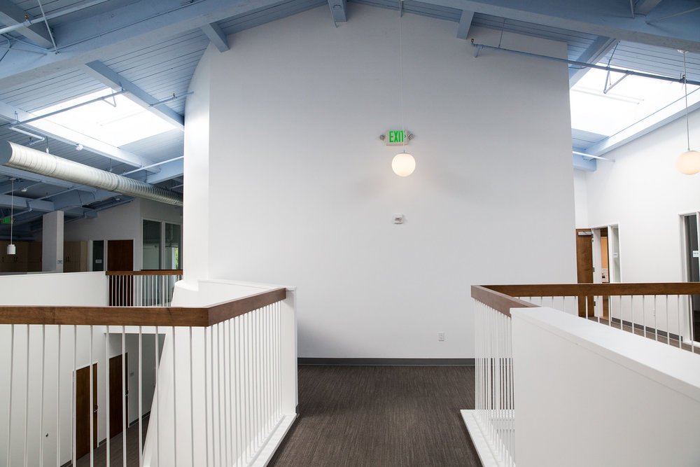 open, modern, white, clean, san francisco school, elementary, architecture, children's space,