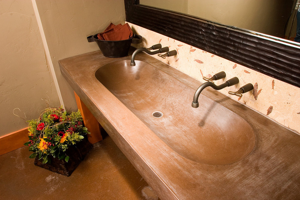 bathroom, sink, lodge, wyoming, rustic, warm colors, warm tones, faucet, wood
