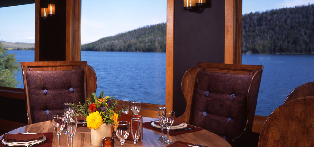 wyoming, lake, beauty, outdoors, seating area, dining room, wood, nature, leather