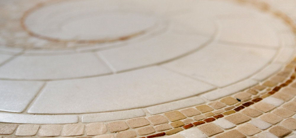 stone, detail, white, mosaic, bathroom