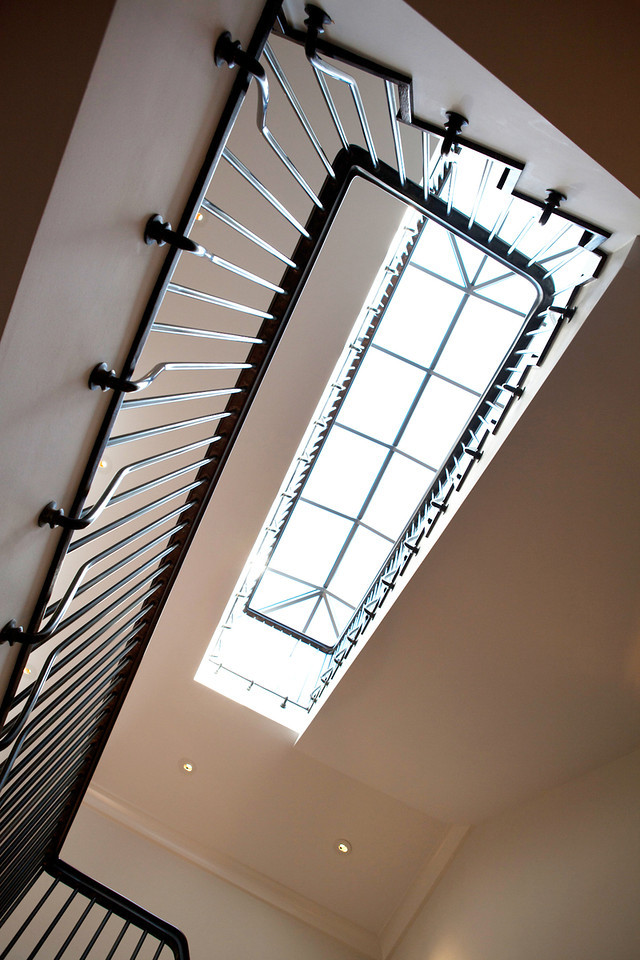 stair railing details, staircase, skylight, spiral staircase
