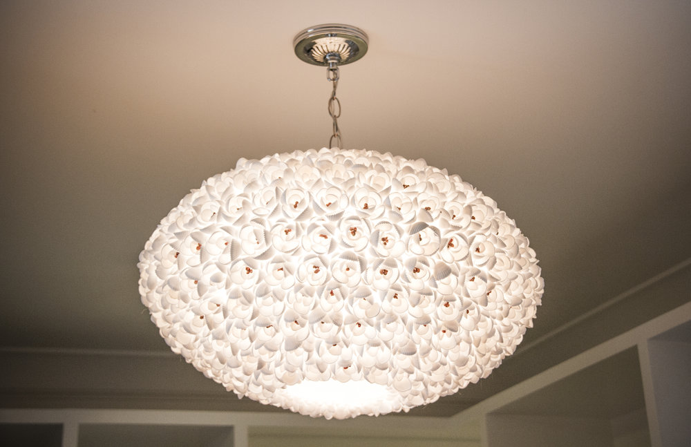 chandelier, modern, elegant, white, lighting