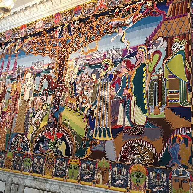 Now this is a tapestry. Norse heritage ❤️Denmark. #tapestry #modernart #interiordesign #familytime