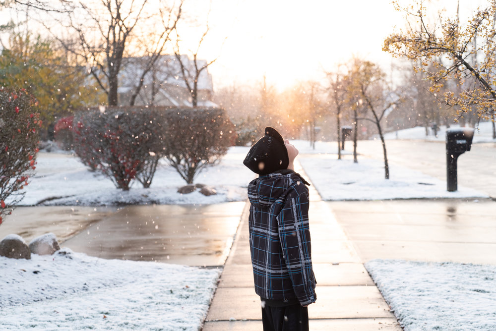 Jonah in Cleveland, Ohio, 2014. First Snow