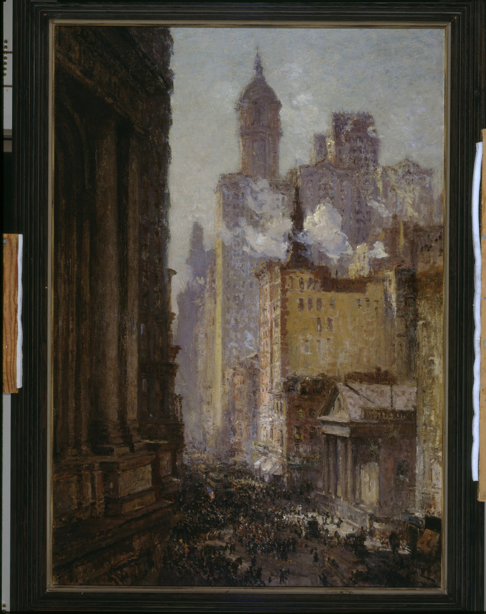 Colin Campbell COOPER   Broadway From Post Office (Wall Street)   c. 1909