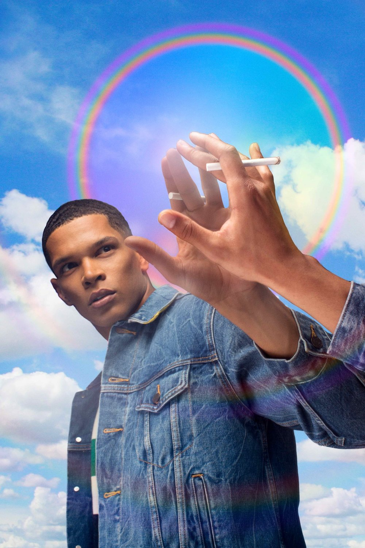 Wilhelmina model Dorian Bitouala rainbow portrait by toronto commercial fashion artist photographer justin atkins.jpg.jpg