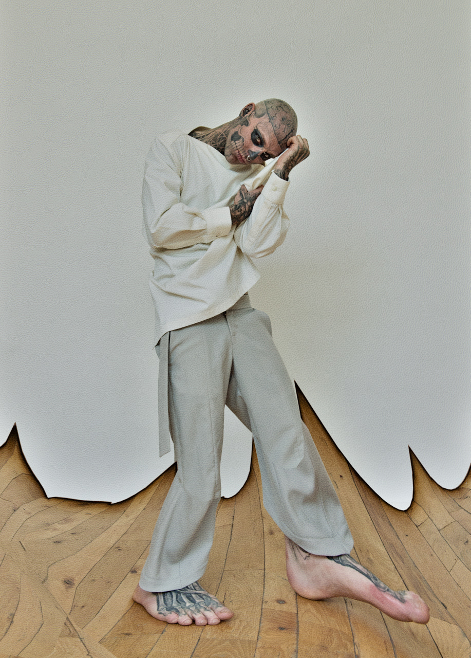 Zombie Boy warp feet Iconic Fashion Image by photographer Nelson Huang artist Justin Atkins.JPG