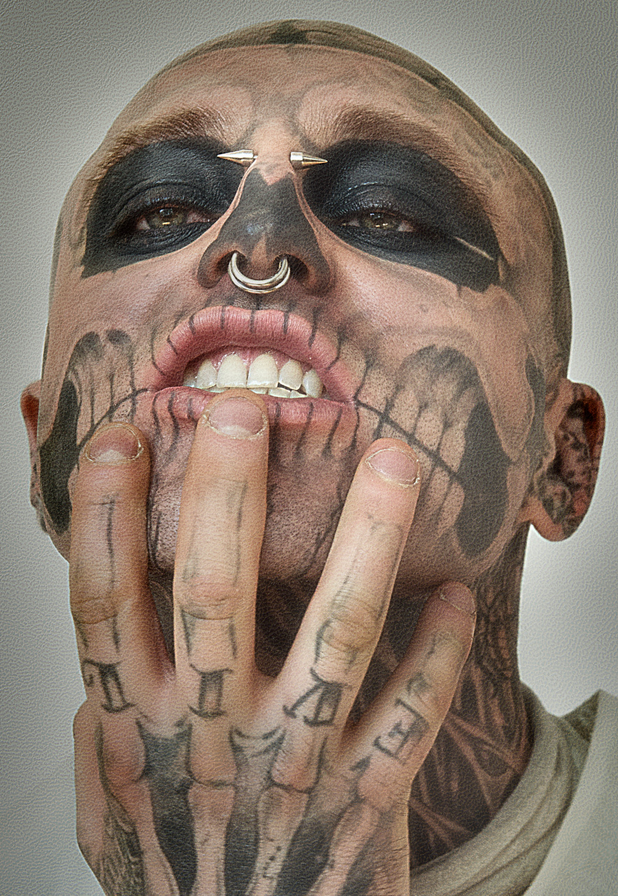 Zombie Boy Iconic Fashion portrait by photographer Nelson Huang artist Justin Atkins.JPG
