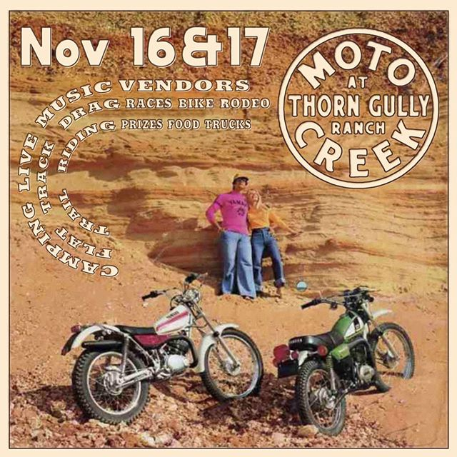 Moto creek rally now has a new date! Come get dirt in your teeth nov 16th/17th! Tickets available at link in bio! . . . #limeybikes #motocreekrally #dirttrackracing #dirttracks #yamaha #honda