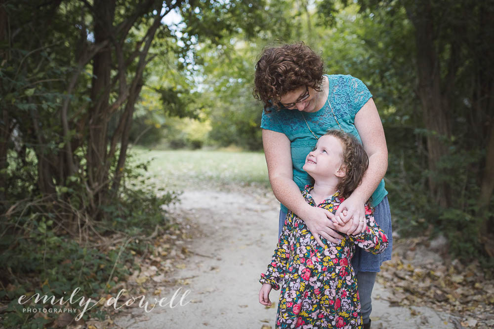 Portrait of a Mother and Daughter in the woods