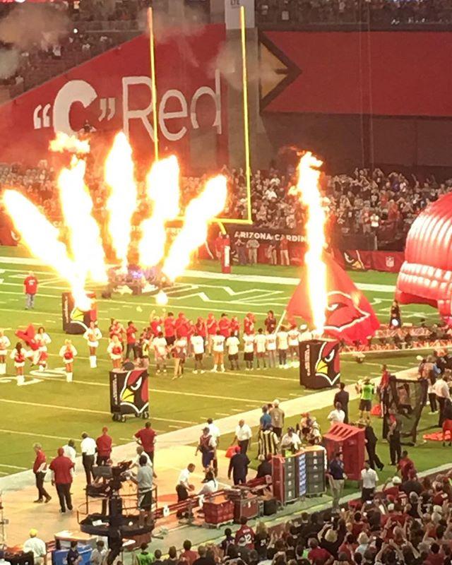 Thank God it's Football nite in Phoenix ! #gocards