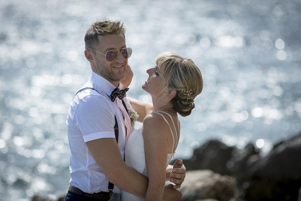 Wedding Photographer Hertfordshire - Couple Near Sea