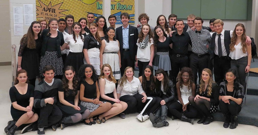 YAA Students with Guest Mentor  Jason Robert Brown