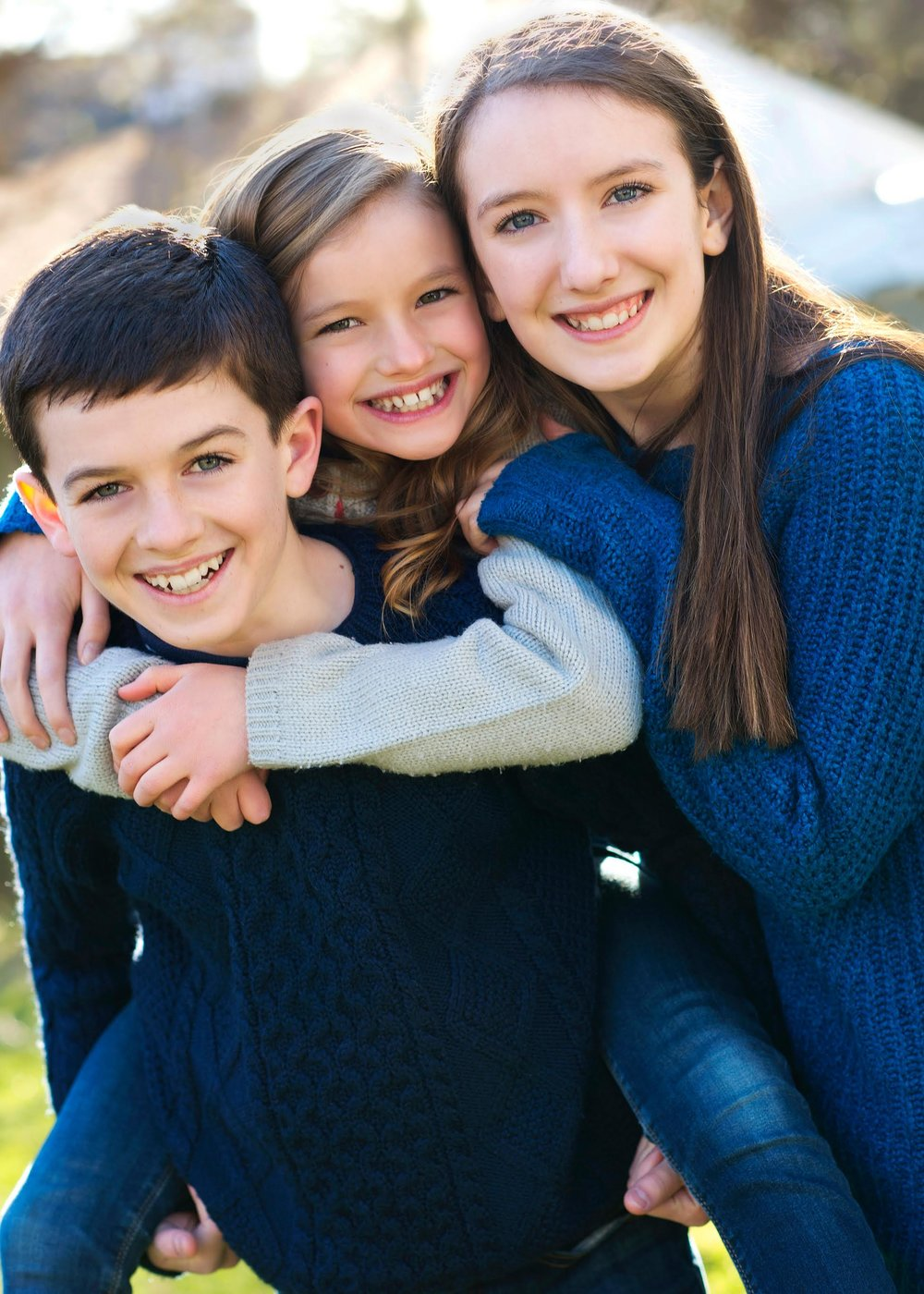 From left to right: Will, Ellie and Caroline Coffey