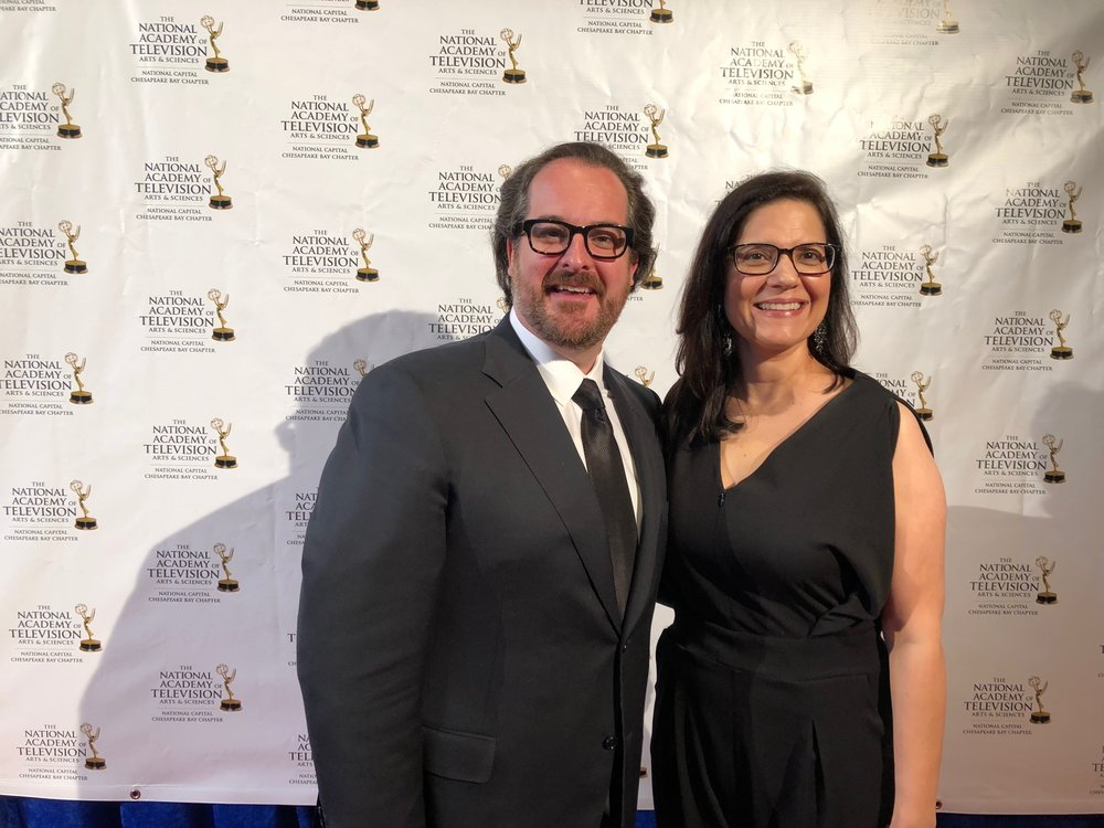 Rolando Sanz (Artistic Director) & Lisa Larragoite (Executive Director) at the Regional EMMY Awards on June 23rd.