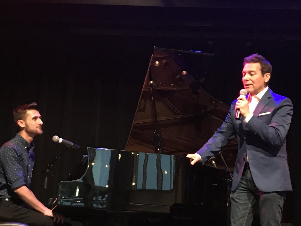 YAA Student, Sam Nasar, performs on stage with musical legend, Michael Feinstein at Strathmore.