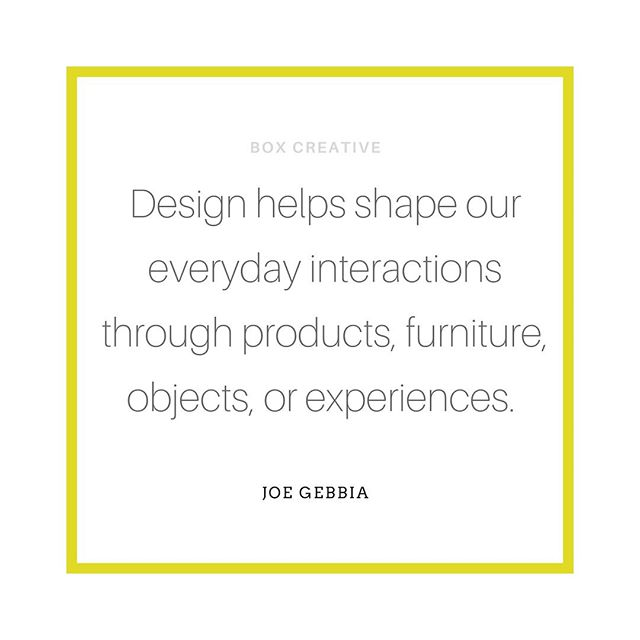 "Tapping into my past life as an interior designer and the fact that the design of our environment and detail around us can have such an impact on our experience of our everyday...⠀ ⠀ ""Design helps shape our everyday interactions through products, furniture, objects, or experiences.""⠀ JOE GEBBIA⠀ ⠀ ⠀ #boxcreativeuk #brandbuilder #branding #investindesign #design #logo #business #graphicdesign #brand #entrepreneur #gooddesign #brandingtips #designer #brand #smallbusiness #success #creativity #entrepreneurship #graphicdesigner #entrepreneurs #gooddesign #interiordesignlover #logodesign #graphic #JoeGebbia #ideas #perfectdetails #brandidentity #businessowner #logoinspiration"