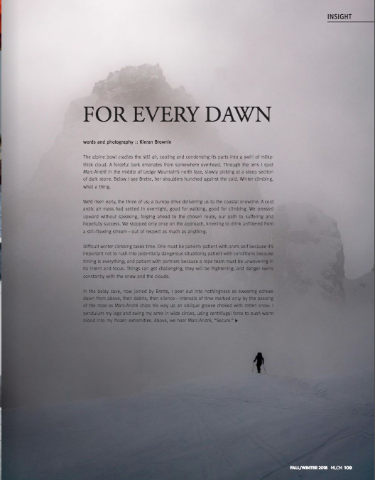 For Every Dawn - Mountain Life: Coast Mountains Fall/Winter 2018