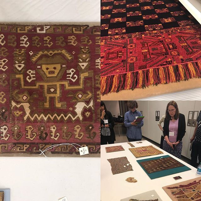 Amazing day at the NMAI and the NMAH studying Andean textiles and their influence on Anni Albers and contemporary artists working in fiber today. #bauhausimaginista #goetheinstitut