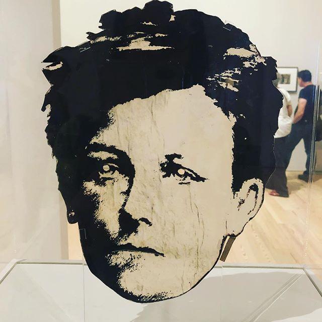 Wojnarowicz's Rimbaud mask at the Whitney. One of many exhibition highlights.