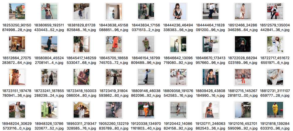 A screenshot from my full body, front view fashion bloggers dataset.