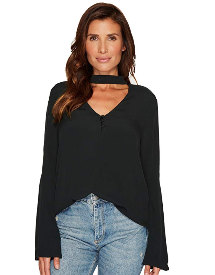 sanctuary womens on amazon - black top - raven choker top - by leanne luce for the fashion robot