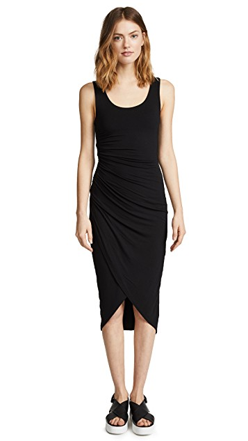 black jersey asymmetrical dress from shopbop by bailey44