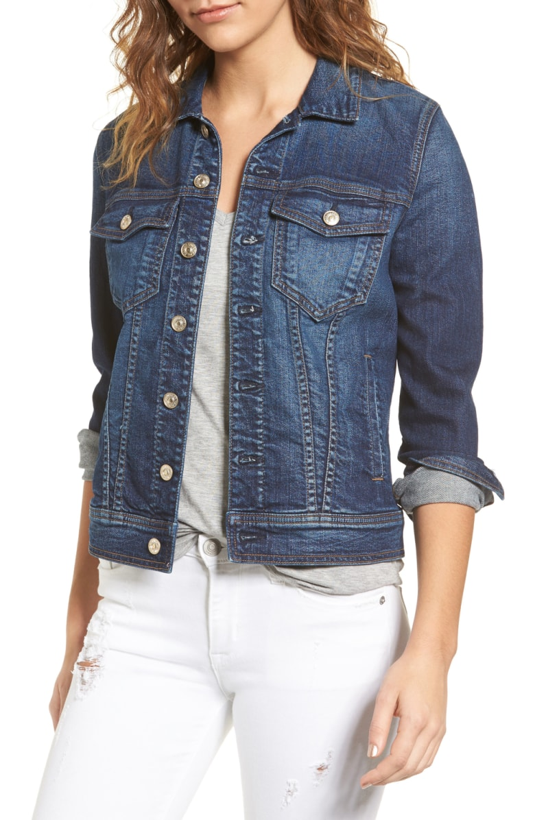 dark denim jacket 7 for all mankind at nordstrom