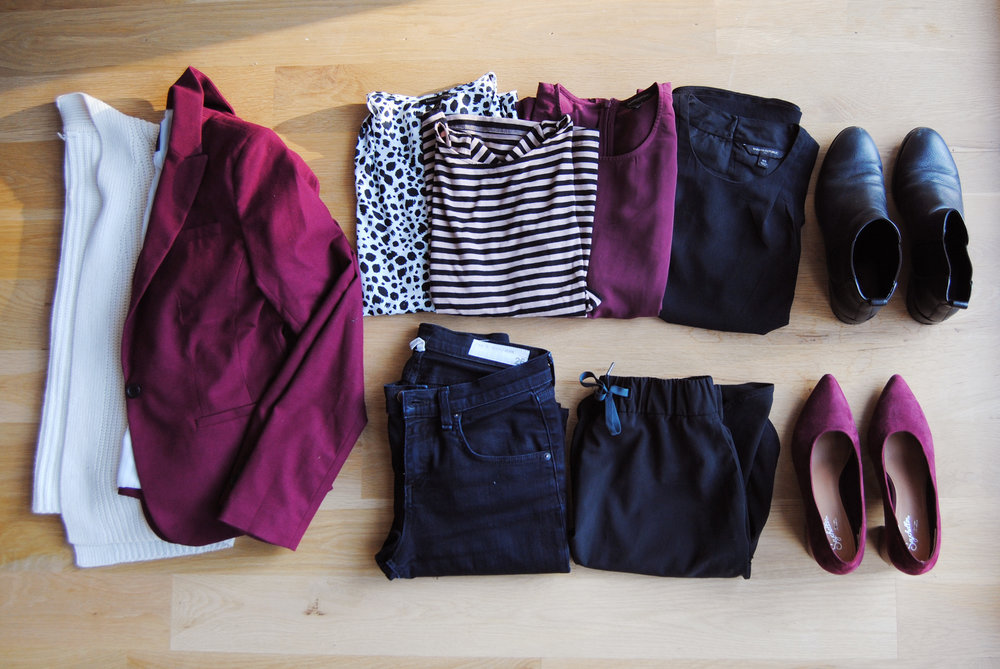capsule wardrobe from the capsule algorithm on the fashion robot blog by leanne luce