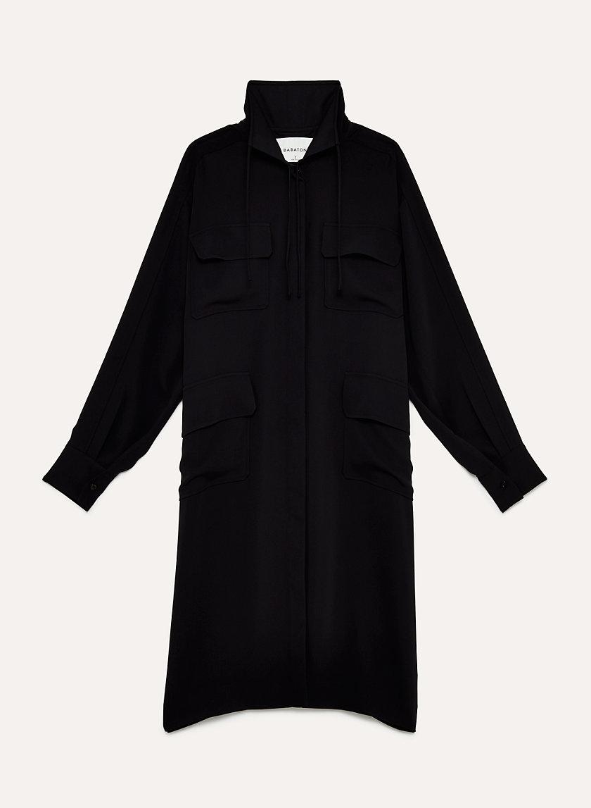 aritzia black shirt dress with pockets