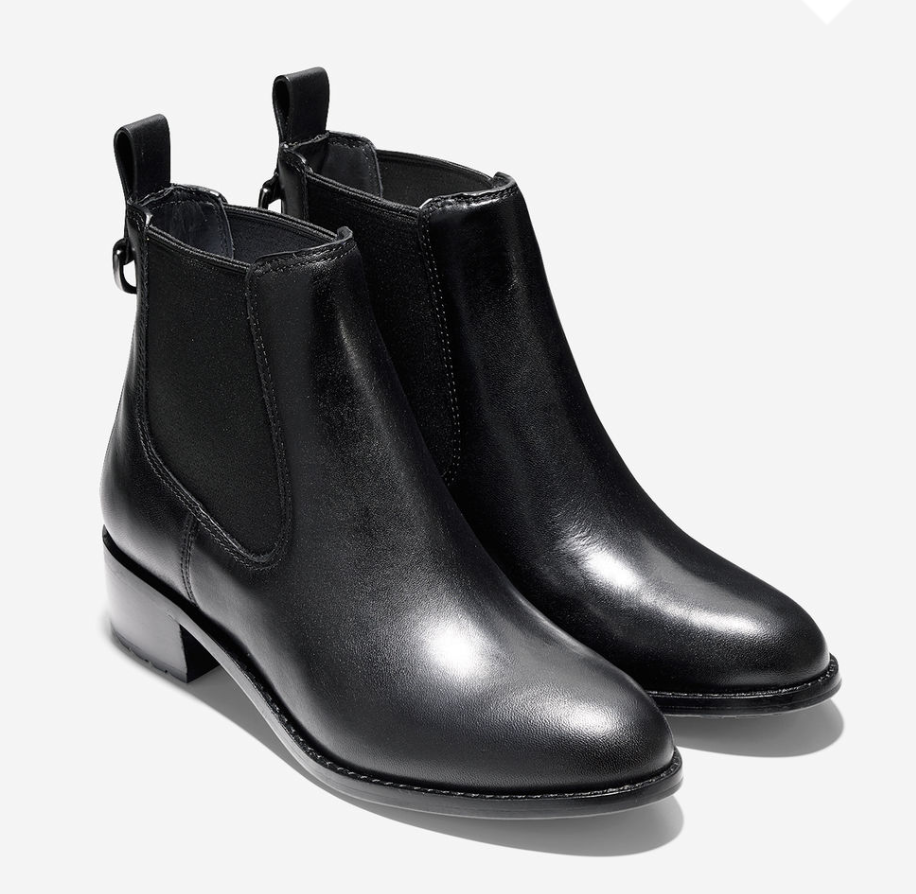 cole haan black chelsea boots womens