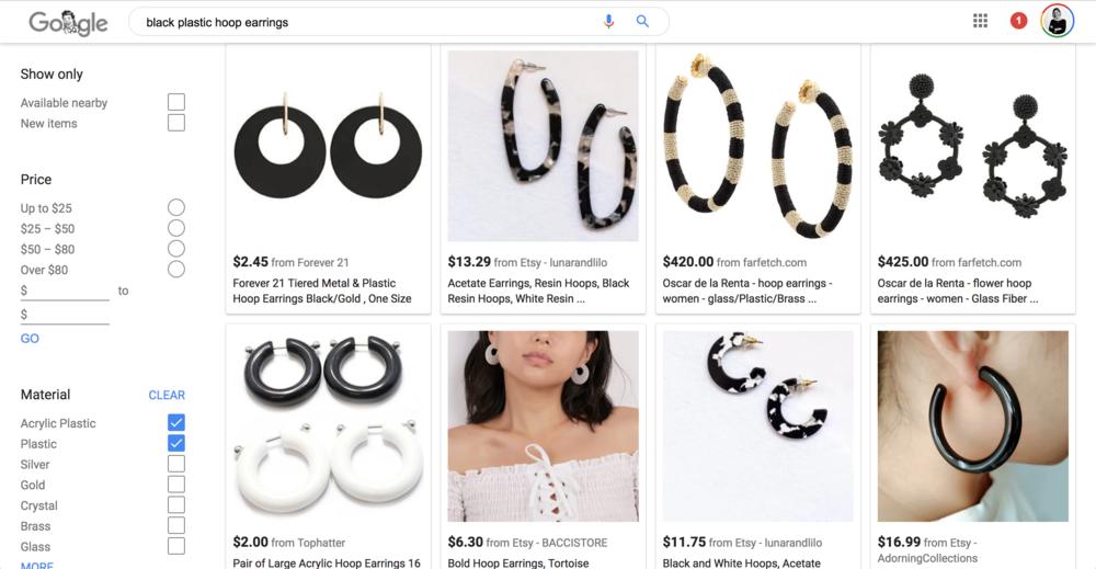 Google search large black hoop earrings