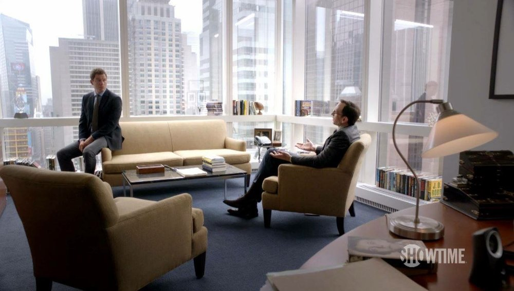A scene from Showtime's The Affair at Goodman Media.