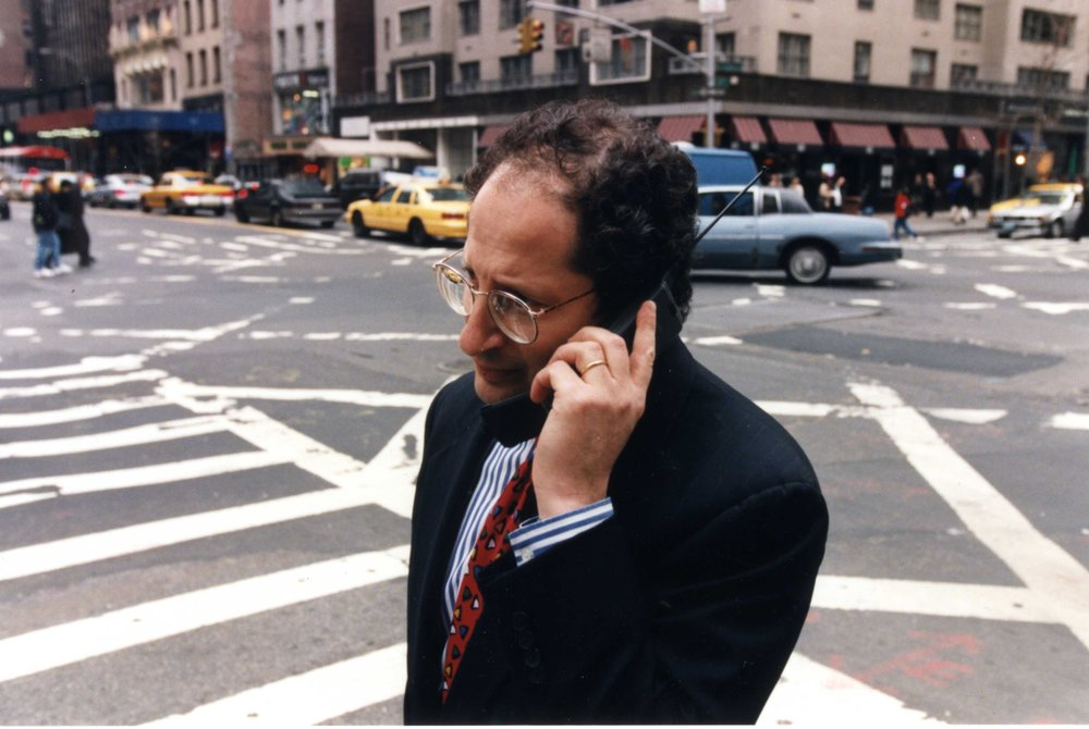 Pictured here: CEO Tom Goodman in the flip-phone era.