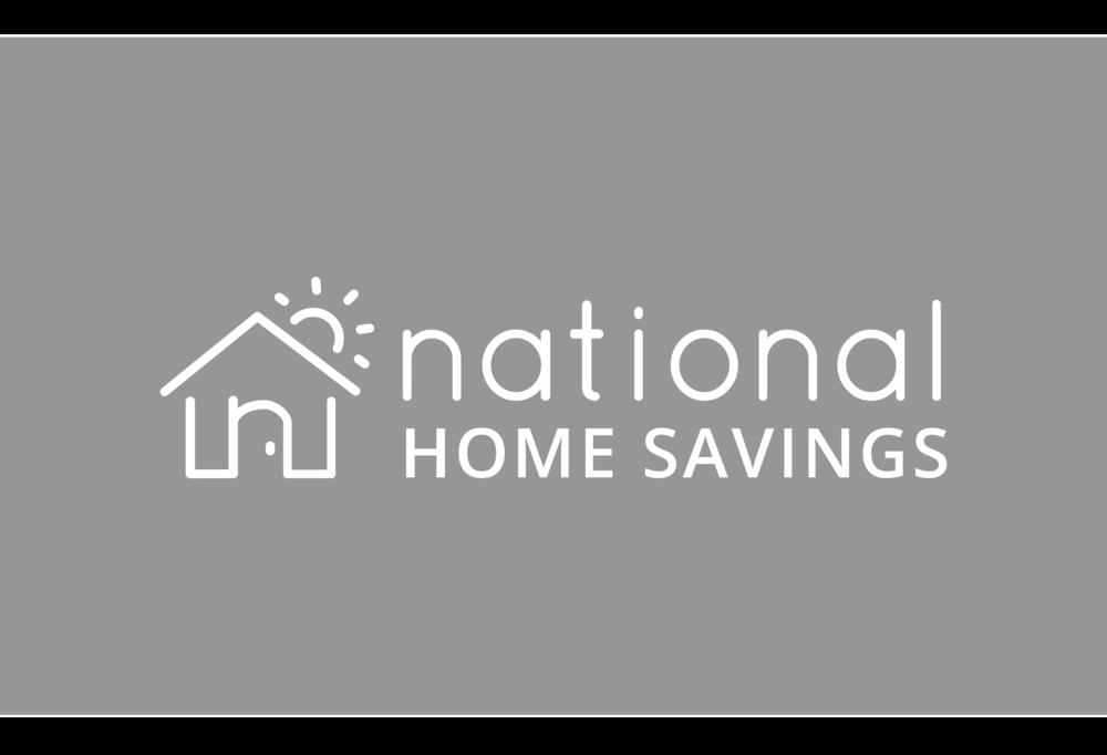 National Home Savings - Home Insurance Branding +illustration.