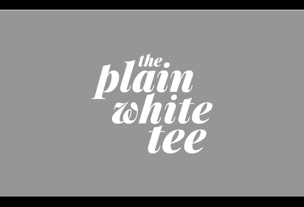The plain White Tee - lifestyle blogger branding.