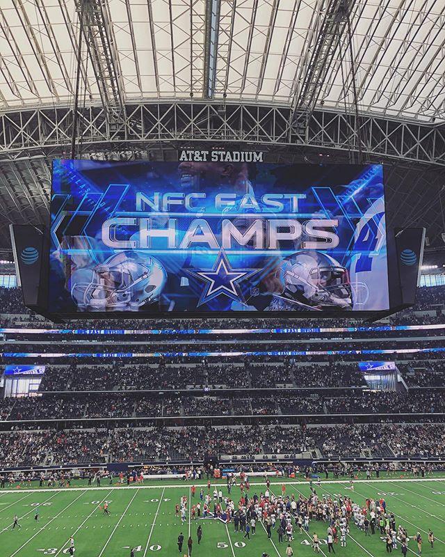 NFC champs!! Go boys!
