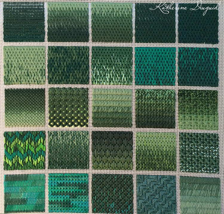 Green Canvaswork Sampler