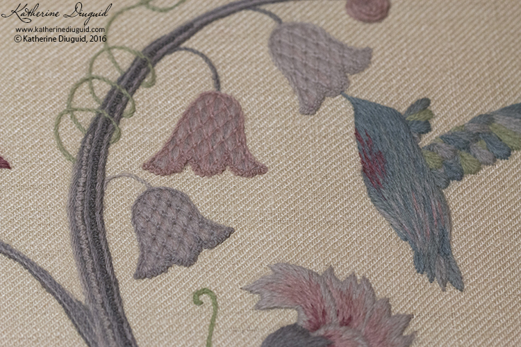 """Hope"" Jacobean Crewelwork- detail"