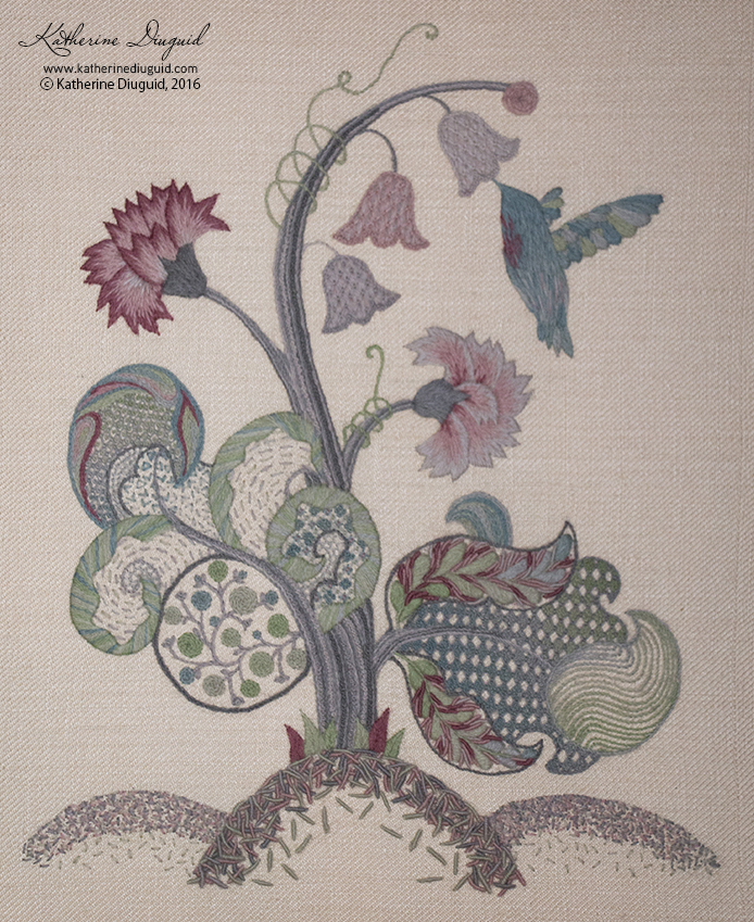 """Hope"" Jacobean Crewelwork"