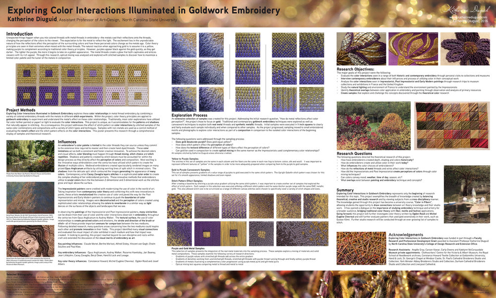Research poster presented at the  2016 textile society of America biennial symposium  in savannah, ga.