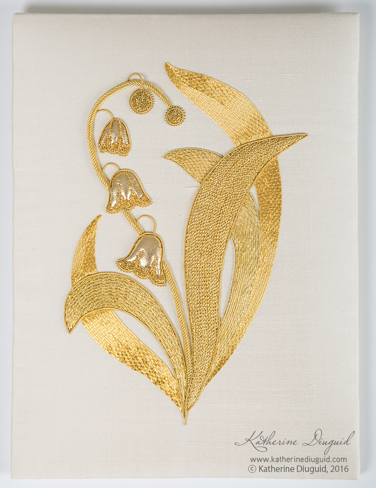 Lily of the Valley Goldwork