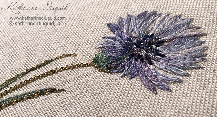 Cornflower: 2 day contemporary goldwork workshop
