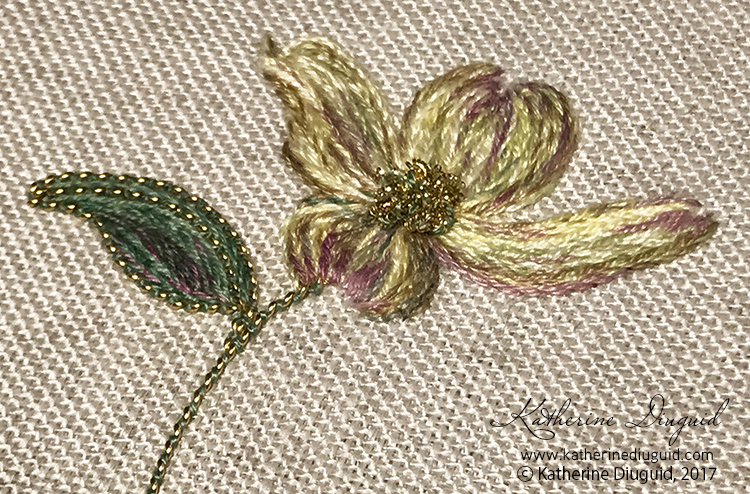 Dogwood: 1-2 day contemporary goldwork workshop