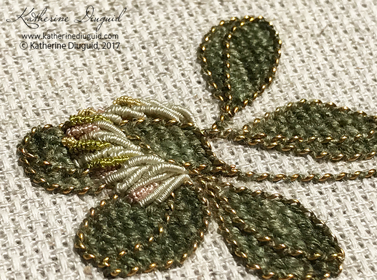 Mini Clover: 1 day contemporary goldwork workshop