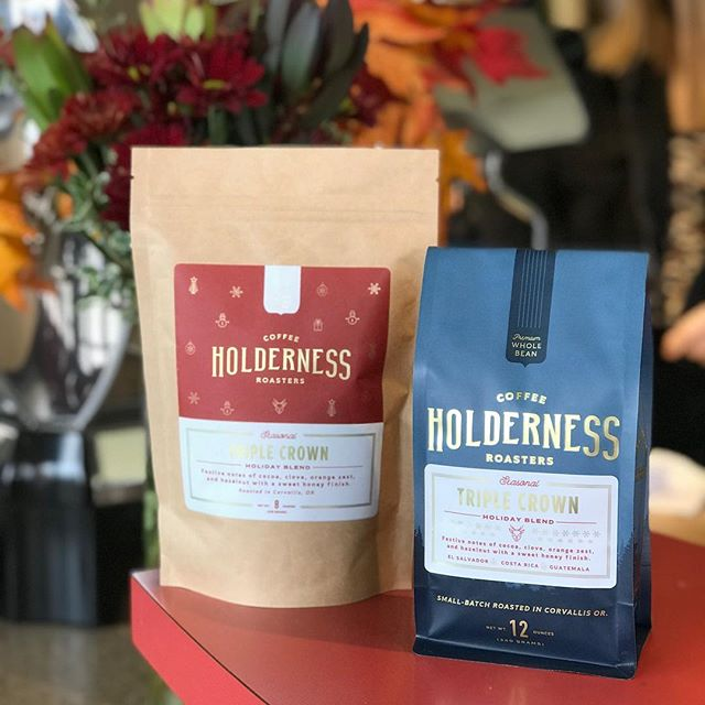 This years Holiday Blend, Triple Crown is now available! Using a trio of El Salvador, Guatemala, and Costa Rican coffees our Roaster, Andrew was inspired by the winning blend at this years Roasters Guild retreat won by him and his teammates. You can expect festive notes of cocoa, clove, orange zest, and hazelnut, with a sweet honey finish. Available in our standard 12oz bag and 8oz pouch options online at @holdernesscoffee or at any of our @coffeecultureor locations!