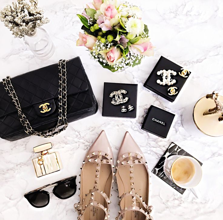 Chanel makeup and bags