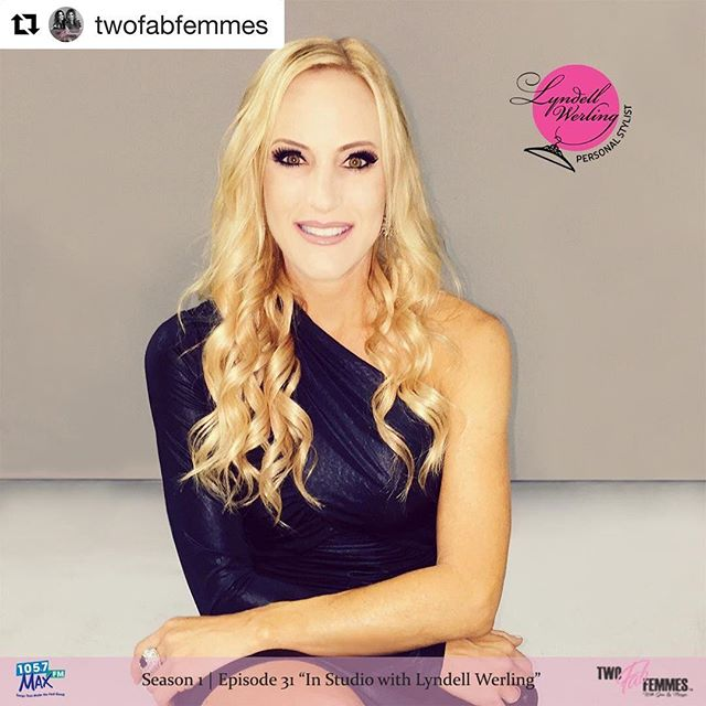 """Whoruntheworld? Girls and @twofabfemmes if we're talking podcasting. I enjoyed spending time on their show chatting about fashion and small business. Give them a follow and listen to their show! Link in bio. 🌺🌸👆🌸🌺 #Repost @twofabfemmes with @get_repost ・・・ S1 E31: """"In Studio with Lyndell Werling"""" is available now! Tune in to hear our interview with this Fab, Personal Stylist as she gives us all grade A advice on how to create a signature look, stand out with style, fall fashions, and advice on becoming a stylist & running a biz! 📸: @beckifreed_legacyphotography  Hair & makeup: @beautyby_val"""